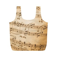 Music Notes Background Full Print Recycle Bags (M)
