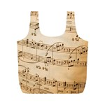 Music Notes Background Full Print Recycle Bags (M)  Front