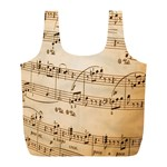 Music Notes Background Full Print Recycle Bags (L)  Front