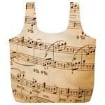 Music Notes Background Full Print Recycle Bags (L)  Back