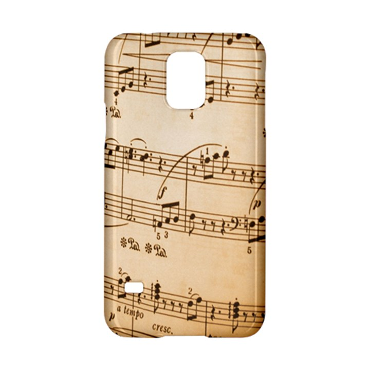 Music Notes Background Samsung Galaxy S5 Hardshell Case