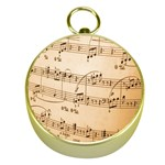 Music Notes Background Gold Compasses Front