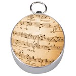 Music Notes Background Silver Compasses Front