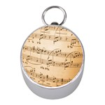 Music Notes Background Mini Silver Compasses Front