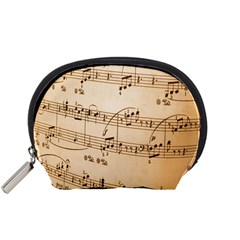 Music Notes Background Accessory Pouches (Small)