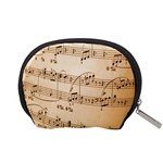 Music Notes Background Accessory Pouches (Small)  Back