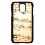 Music Notes Background Samsung Galaxy S5 Case (Black) Front
