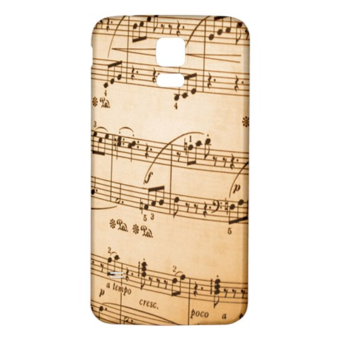 Music Notes Background Samsung Galaxy S5 Back Case (White)