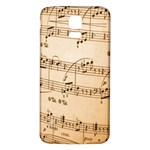 Music Notes Background Samsung Galaxy S5 Back Case (White) Front