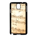 Music Notes Background Samsung Galaxy Note 3 Neo Hardshell Case (Black) Front