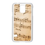Music Notes Background Samsung Galaxy S5 Case (White) Front