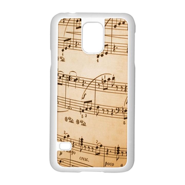 Music Notes Background Samsung Galaxy S5 Case (White)