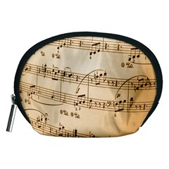Music Notes Background Accessory Pouches (Medium)