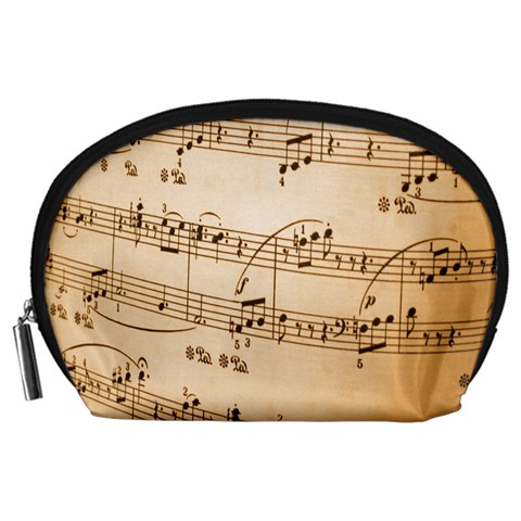 Music Notes Background Accessory Pouches (Large)