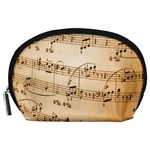 Music Notes Background Accessory Pouches (Large)  Front