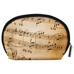 Music Notes Background Accessory Pouches (Large)  Back