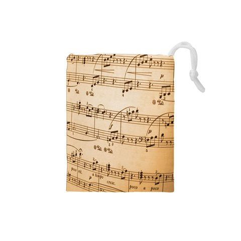 Music Notes Background Drawstring Pouches (Small)