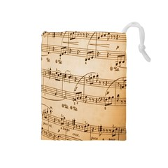Music Notes Background Drawstring Pouches (Medium)