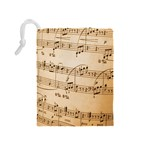 Music Notes Background Drawstring Pouches (Medium)  Back