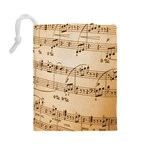 Music Notes Background Drawstring Pouches (Large)  Back
