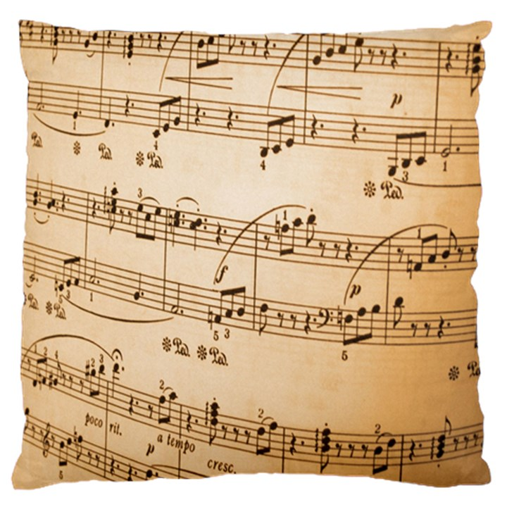 Music Notes Background Standard Flano Cushion Case (One Side)