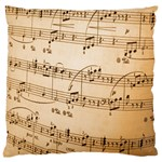 Music Notes Background Large Flano Cushion Case (One Side) Front