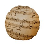 Music Notes Background Standard 15  Premium Flano Round Cushions Front