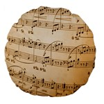 Music Notes Background Large 18  Premium Flano Round Cushions Front