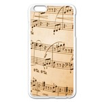 Music Notes Background Apple iPhone 6 Plus/6S Plus Enamel White Case Front