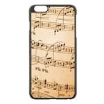 Music Notes Background Apple iPhone 6 Plus/6S Plus Black Enamel Case Front
