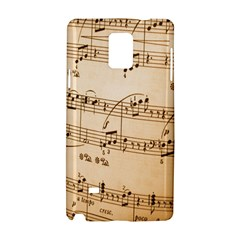Music Notes Background Samsung Galaxy Note 4 Hardshell Case