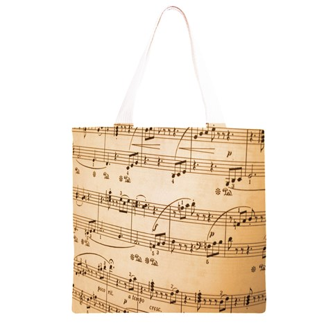Music Notes Background Grocery Light Tote Bag