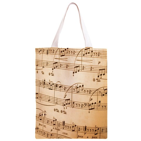 Music Notes Background Classic Light Tote Bag