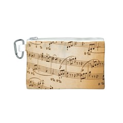 Music Notes Background Canvas Cosmetic Bag (S)