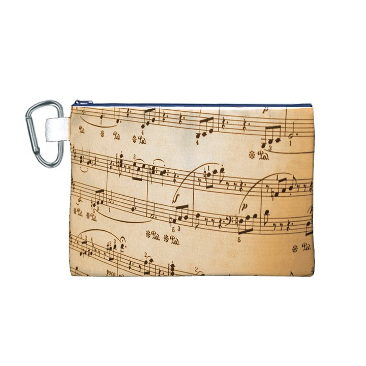 Music Notes Background Canvas Cosmetic Bag (M)