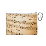 Music Notes Background Canvas Cosmetic Bag (M) Back