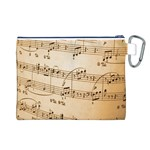 Music Notes Background Canvas Cosmetic Bag (L) Back