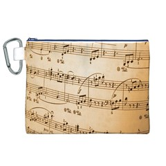 Music Notes Background Canvas Cosmetic Bag (XL)