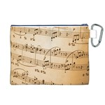 Music Notes Background Canvas Cosmetic Bag (XL) Back