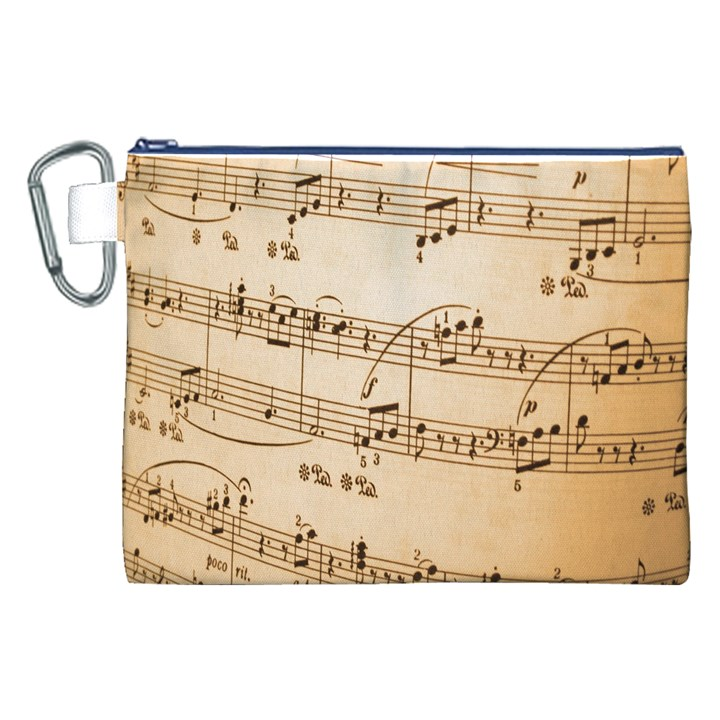 Music Notes Background Canvas Cosmetic Bag (XXL)