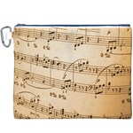 Music Notes Background Canvas Cosmetic Bag (XXXL) Front