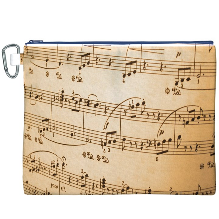 Music Notes Background Canvas Cosmetic Bag (XXXL)