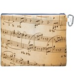 Music Notes Background Canvas Cosmetic Bag (XXXL) Back