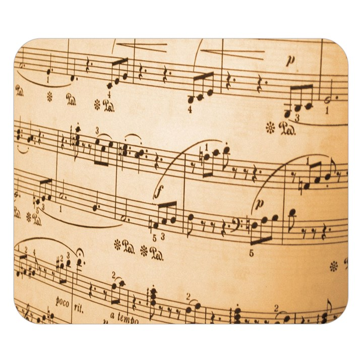 Music Notes Background Double Sided Flano Blanket (Small)