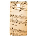 Music Notes Background Galaxy Note 4 Back Case Front