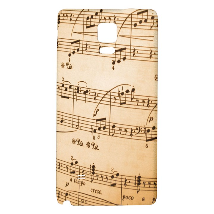 Music Notes Background Galaxy Note 4 Back Case