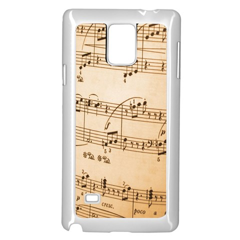 Music Notes Background Samsung Galaxy Note 4 Case (White)