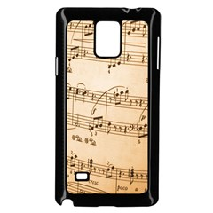 Music Notes Background Samsung Galaxy Note 4 Case (Black)