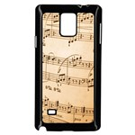 Music Notes Background Samsung Galaxy Note 4 Case (Black) Front