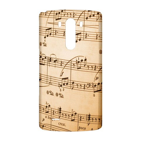 Music Notes Background LG G3 Back Case